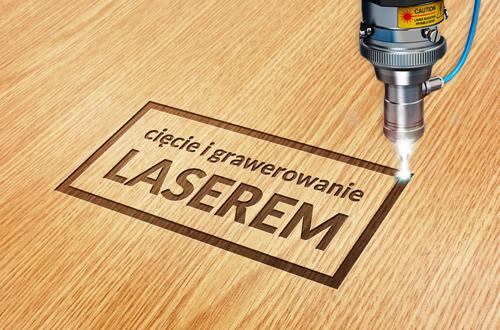 grawerowanie i cięcie laserem w drewnie
