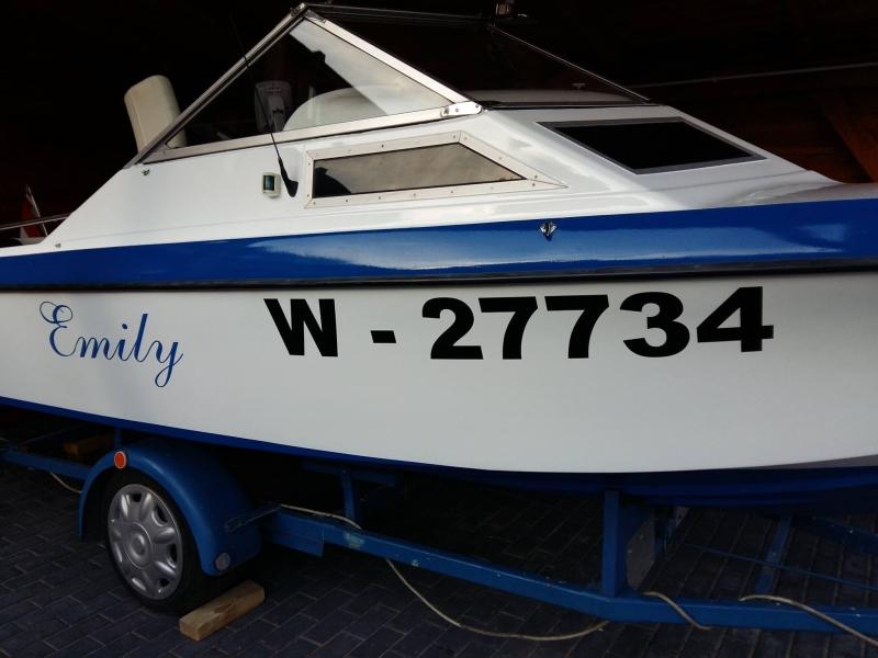 naklejki na łodzie