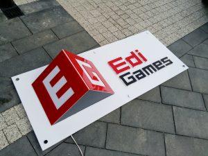 logo 3d z podświetleniem