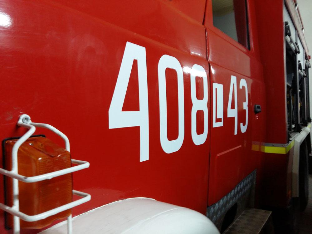 oklejenie wozu strażackiego
