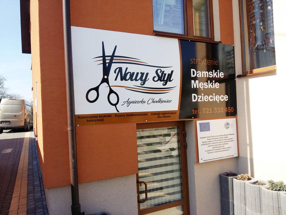 reklama dla salony fryzjerskiego