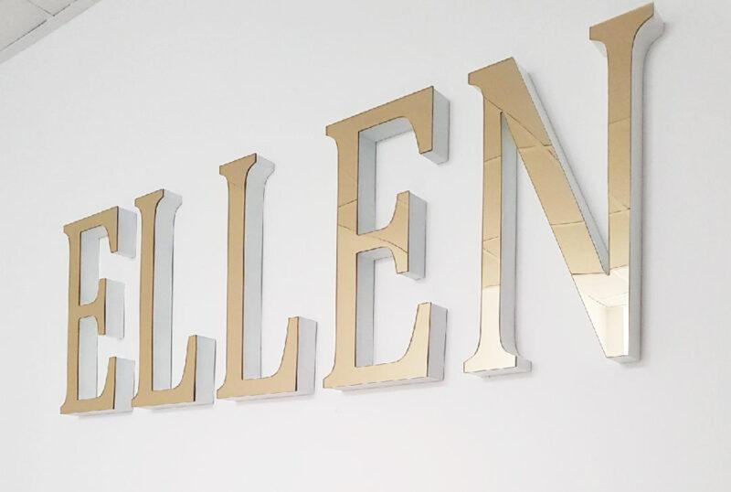 litery przestrzenne złote