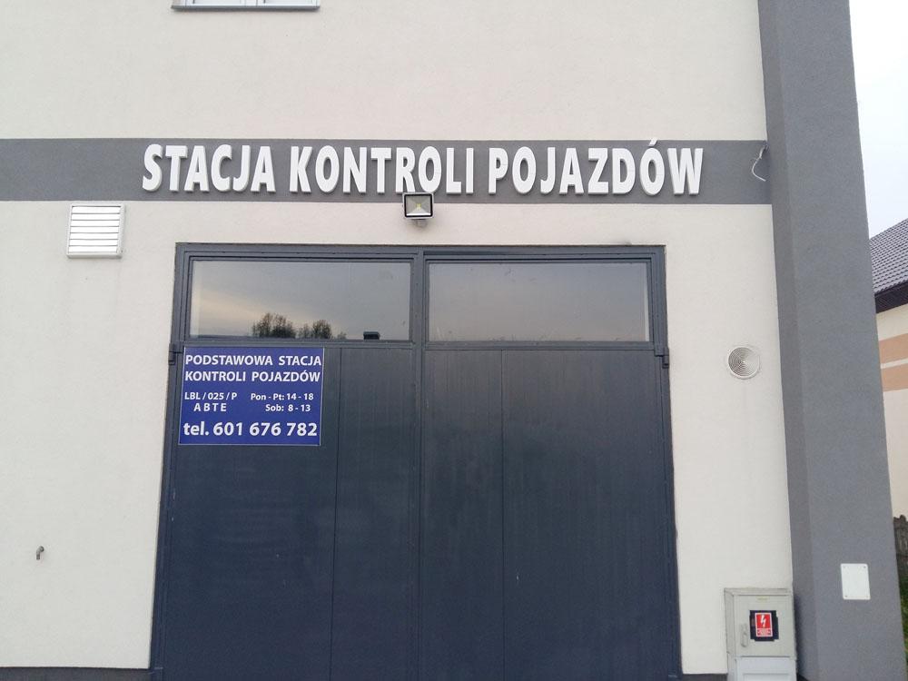 reklamy dla stacji kontroli pojazdów