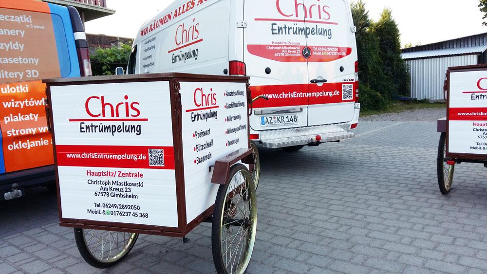 reklama na rower trzykołowy