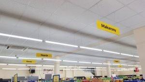oznaczenie działów w sklepie