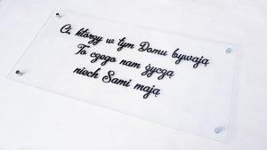 tabliczka na ścianę z dowolnym napisem