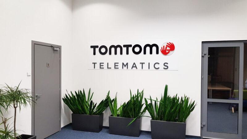 Logo przestrzenne na ścianę dla Tom Tom