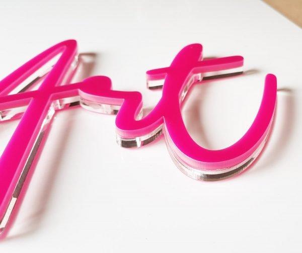 logo przestrzenne 3d z plexi