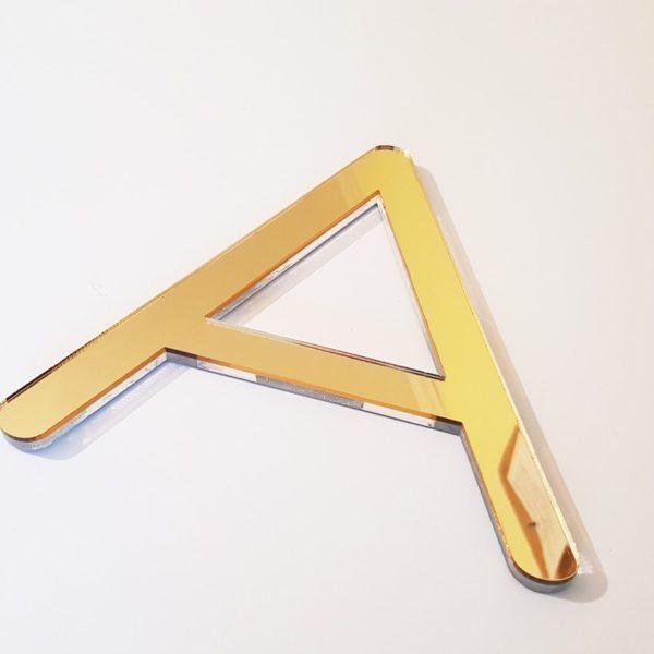 złote litery naścianę