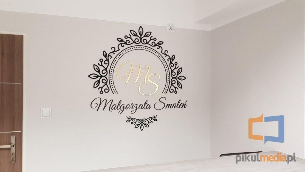 litery przestrzenne na ścianę