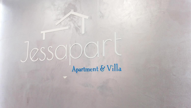 logo 3d na ścianę w recepcji