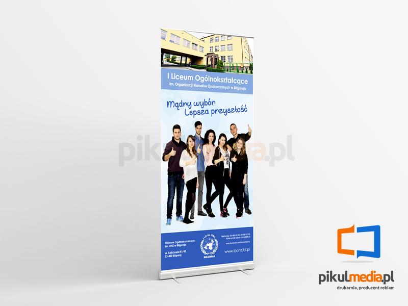 Rollup reklamowy dla szkoły im. ONZ