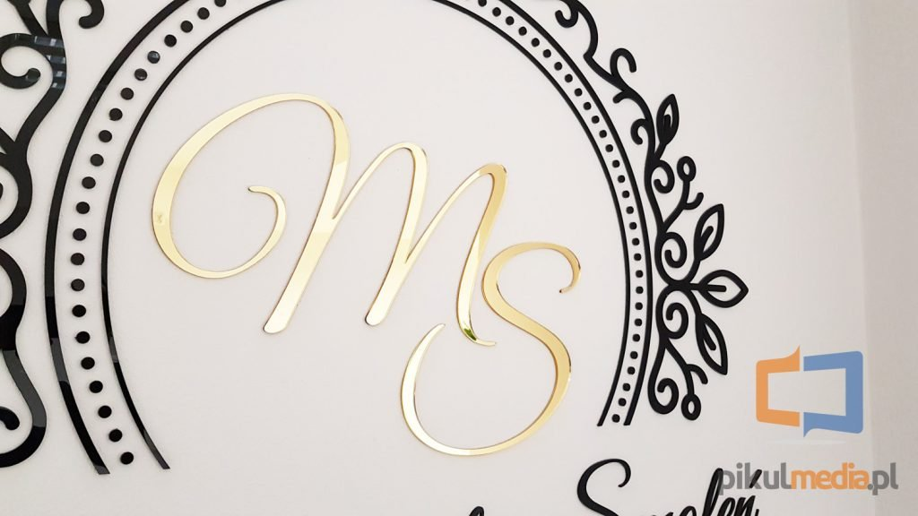 złote litery