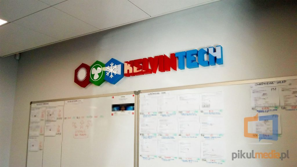 logo na ścianę 3d