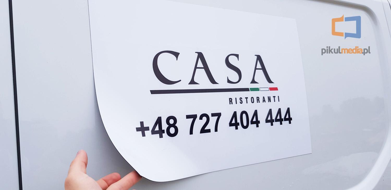 casa ristoranti reklama na samochód