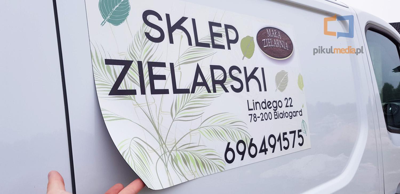reklama sklepu zielarskiego