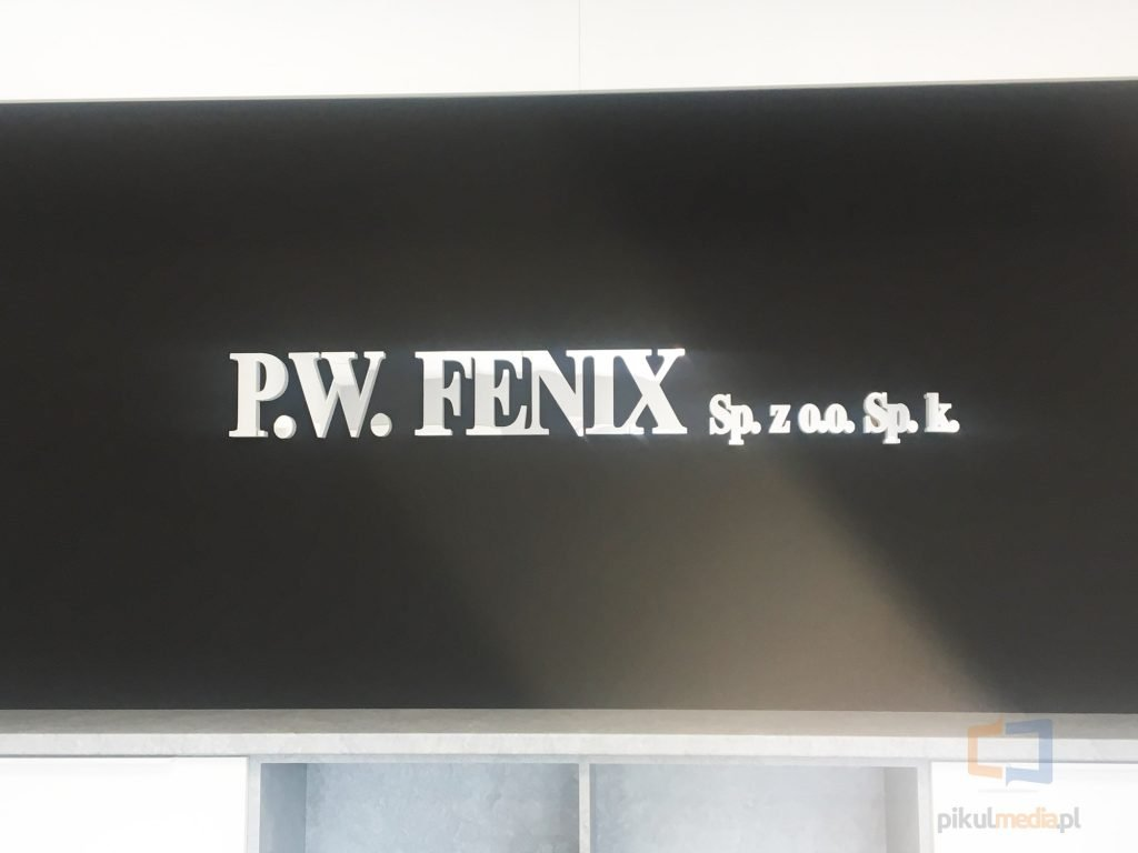 logo 3d na ścianę