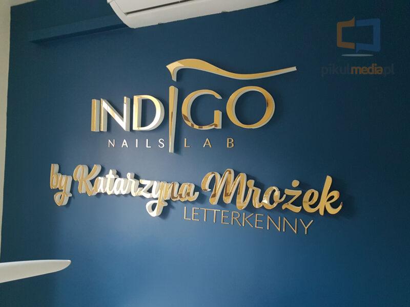 indigo nailslab logo 3d