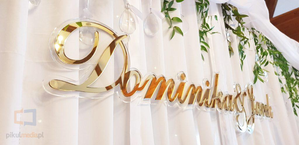 złoty napis na wesele