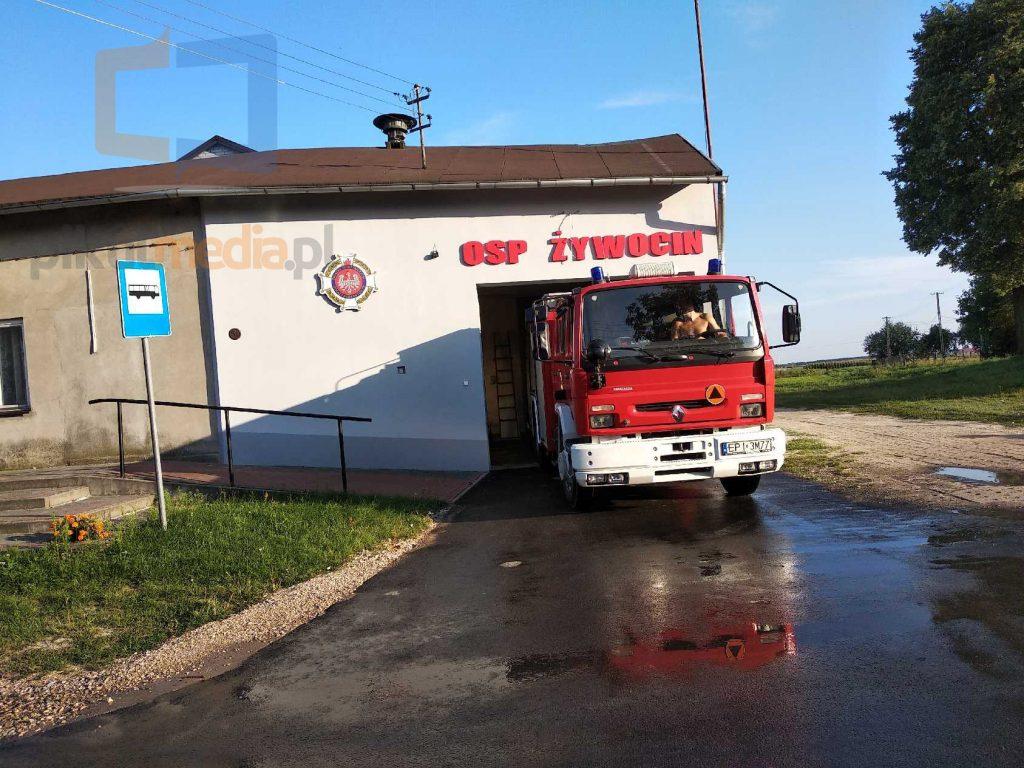 napis osp na budynek straży pożarnej