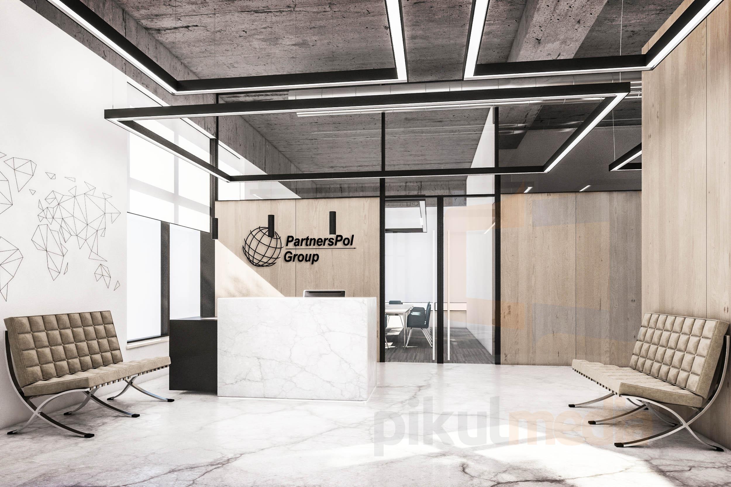 logo 3d do biura