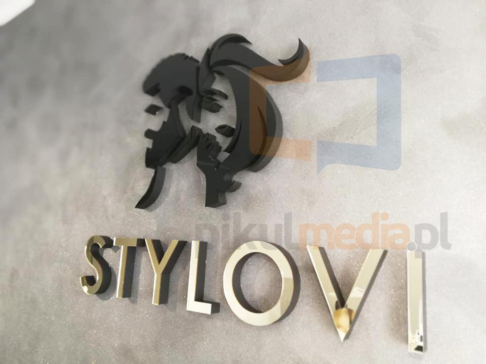 logo fryzjerskie na ścianę