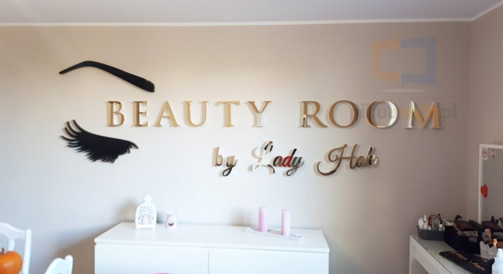 beauty room logo na ścianę