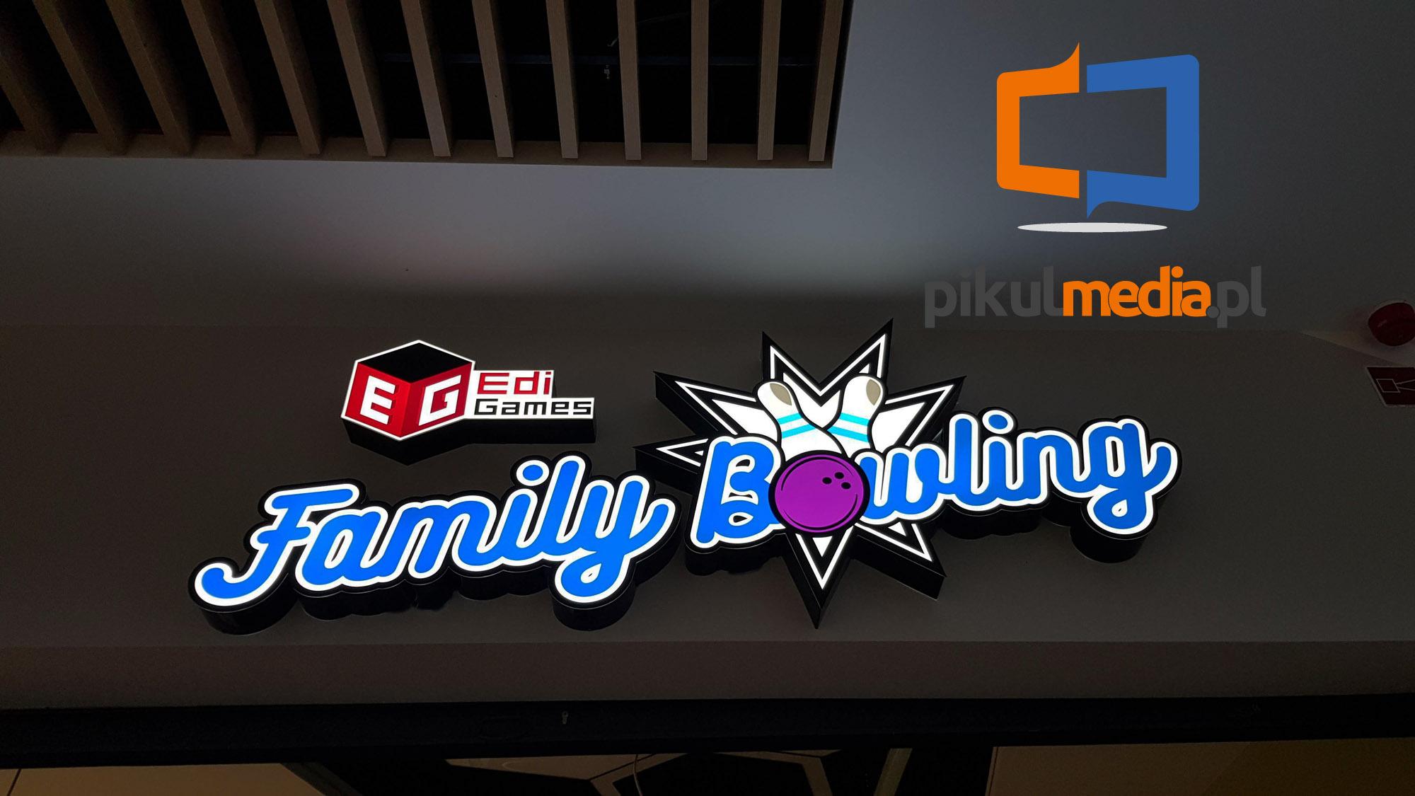 świecące logo 3d