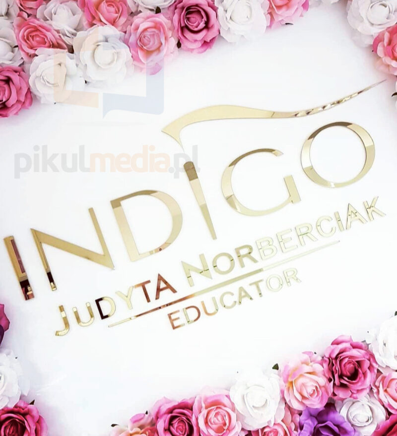 indigo educator logo na ścianę