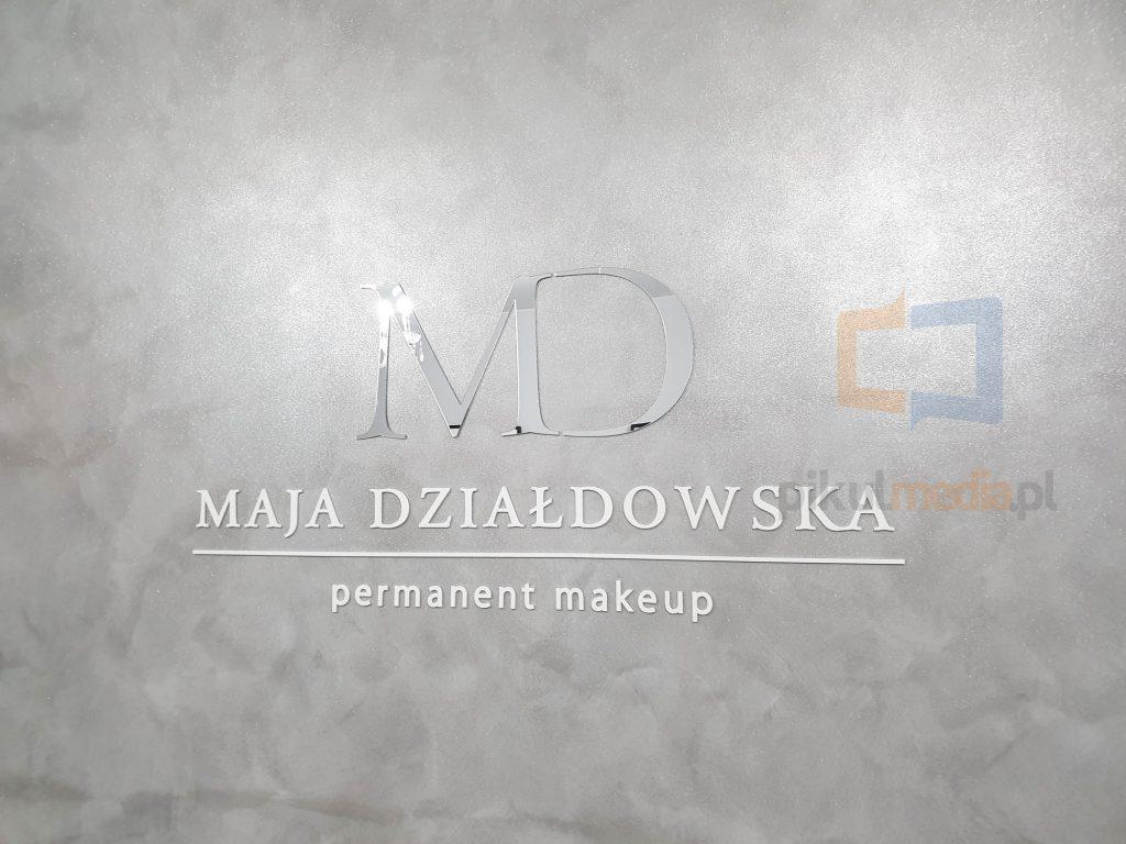 studio makijażu logo na ścianę
