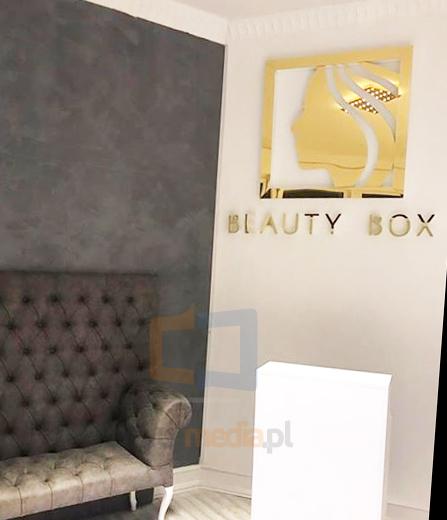 złote logo 3d beauty box