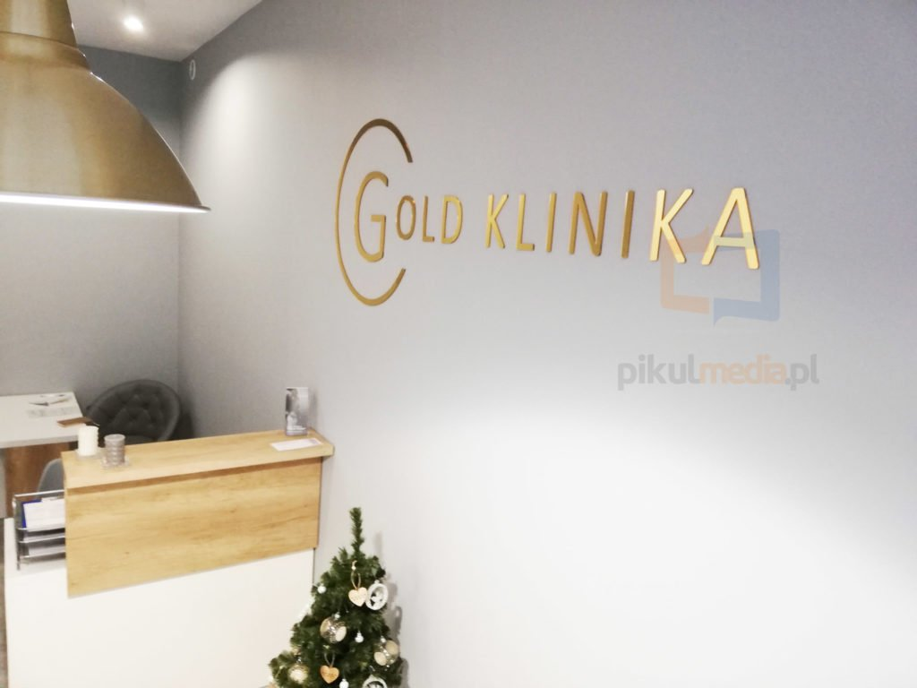 złote logo 3d