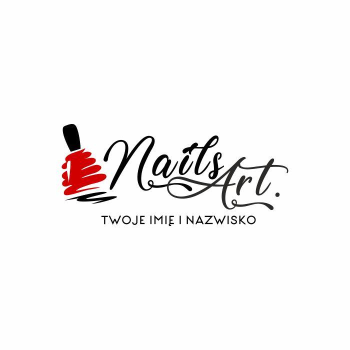 nails art logo 3d