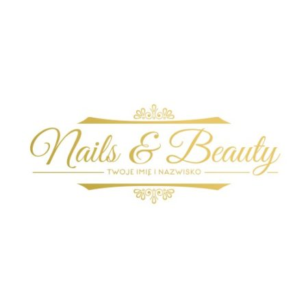nails and beauty litery 3d