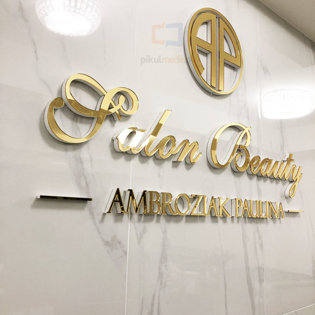 logo - litery na ścianę