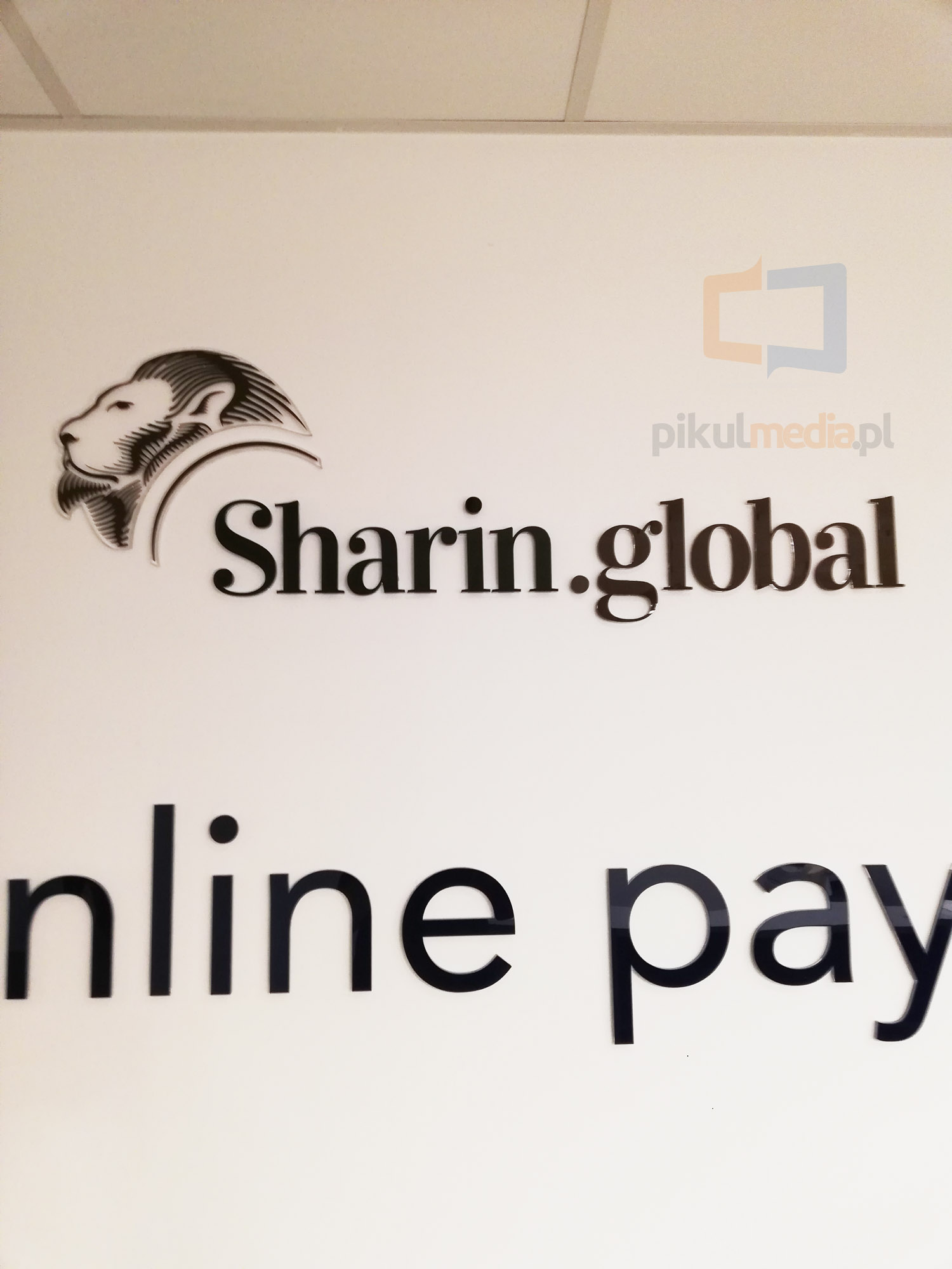 sharin global logo na ścianę