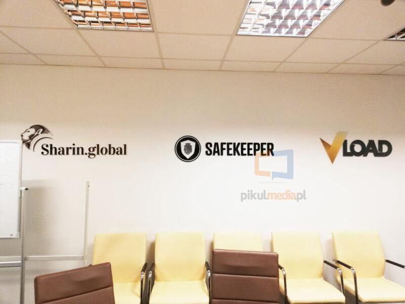logotypy na ścianę