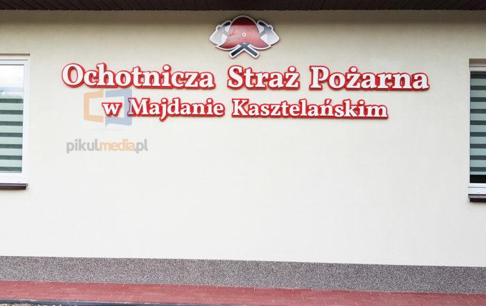 Logo przestrzenne dla Straży Pożarnej w Majdanie